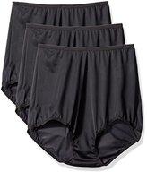 Shadowline Women's Panties - Seamless Nylon Brief (3 Pack)