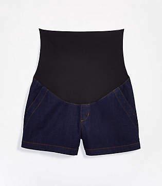 LOFT Maternity Refined Denim Shorts in Rinse Wash