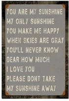 Poncho & Goldstein You Are My Sunshine Wall Art