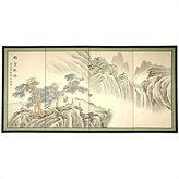 Oriental Furniture Asian Decor and Gifts, 36 by 72-Inch Mountain of Knowledge Chinese Brush Art Wall Screen Painting