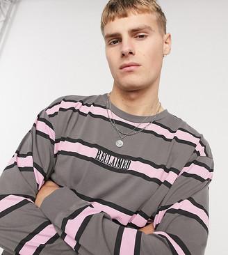 Reclaimed Vintage inspired long sleeve T-shirt in stripe