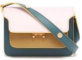 Marni Trunk Mini Saffiano-leather Cross-body Bag - Womens - Beige Multi