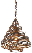 Varaluz Flow 1-Light Pendant, Hammered Ore, 1-Light