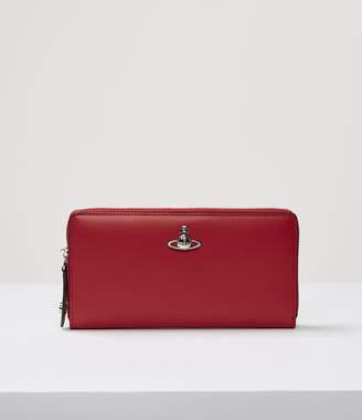 Vivienne Westwood Alex Zip Round Wallet Red