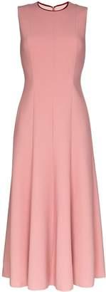 Roksanda contrast panel flared midi dress