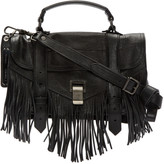 Proenza Schouler Black PS1 Fringe Tiny Satchel