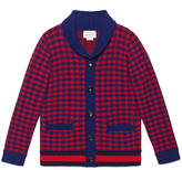 Gucci Children's houndstooth cardigan