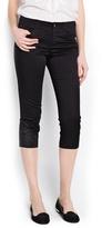 MANGO Outlet Cotton Capri Trousers