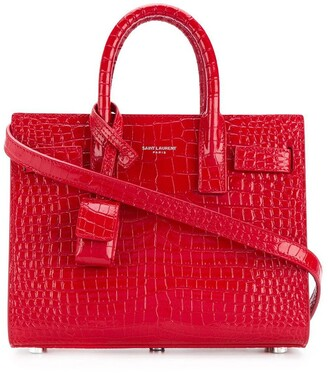 Saint Laurent crocodile embossed baby Sac de Jour