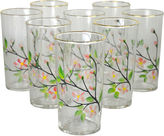 One Kings Lane Vintage Hand-Painted Cocktail Glasses, S/8