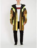 Dsquared2 Contrast-panel camouflage-print cotton jacket