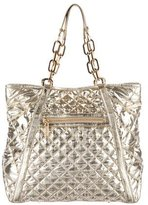 Tory Burch Metallic Quilted Satchel