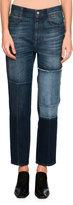 Stella McCartney High-Waist Patchwork Skinny Jeans, Blue