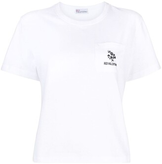 RED Valentino logo-embroidered T-shirt