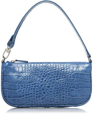 BY FAR Rachel Croc-Effect Leather Bag