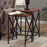 Andover Mills Creeksville 2 Piece Nesting Tables Color: Cherry