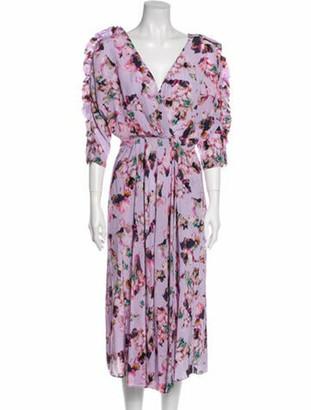 IRO Floral Print Long Dress w/ Tags Purple
