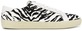 Saint Laurent Court Classic SL/06 zebra print sneakers
