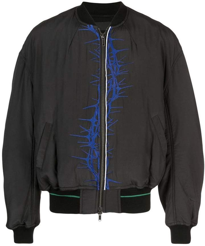 Haider Ackermann printed bomber jacket