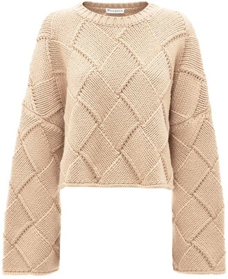 J.W.Anderson Cropped Oversized Crewneck Jumper