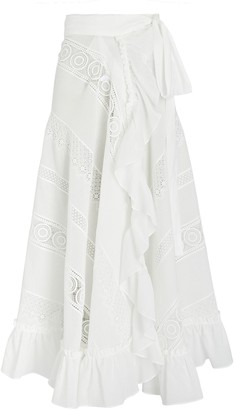 Waimari Sevillana Embroidered Maxi Wrap Skirt