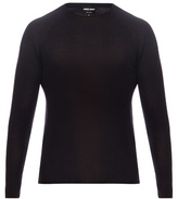 Giorgio Armani Long-sleeved Wool And Silk-blend Knit Top