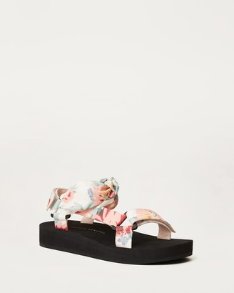 Loeffler Randall Maisie Sporty Sandal White/Floral