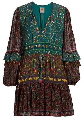 Farm Rio Mixed Print Mini Dress