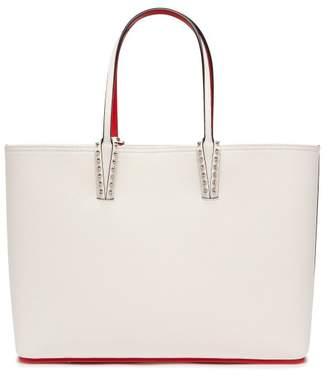 Christian Louboutin Cabata Spike-embellished Leather Tote - Womens - White