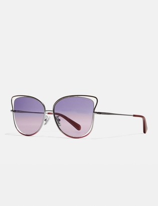Coach Wire Frame Butterfly Sunglasses