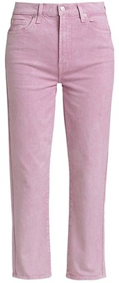 High-Rise Crop Straight-Leg Jeans