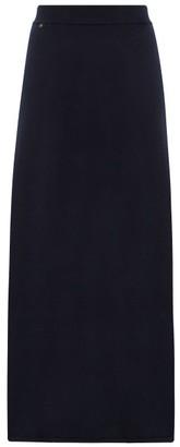 Extreme Cashmere - No. 22 Sas A-line Stretch-cashmere Skirt - Womens - Navy