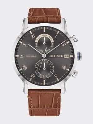 Tommy Hilfiger Crocodile-Effect Leather Watch