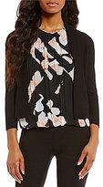 Calvin Klein 3/4-Sleeve Cardigan Shrug