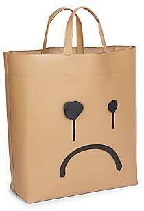 Balenciaga Women's Medium Market Frown Leather Tote