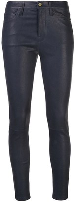 Frame Mid Rise Skinny Leather Pants