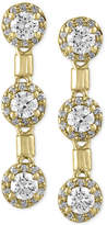Effy Diamond Trio Drop Earrings (1-1/5 ct. t.w.) in 14k Gold
