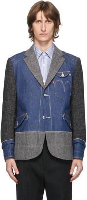 Junya Watanabe Indigo Levis Edition Denim and Wool Selvedge Blazer