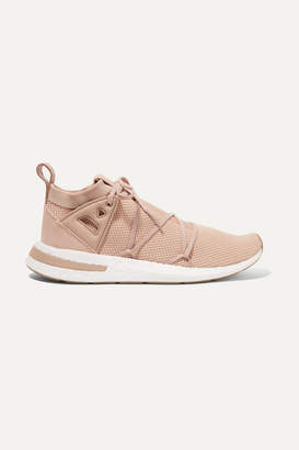 adidas Arkyn Suede And Rubber-trimmed Stretch-knit Sneakers - Antique rose