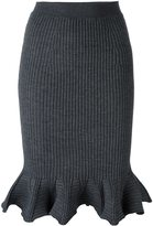 Lanvin ribbed knit skirt