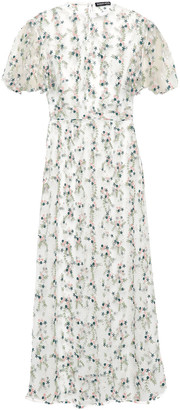 Markus Lupfer Georgia Embroidered Tulle Midi Dress