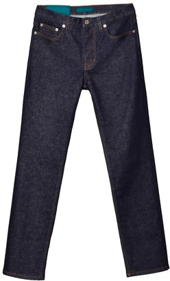 Self Cinema Slim Straight Jean Indigo Rinse