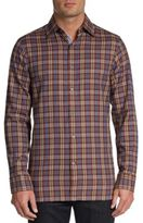 Hickey Freeman Plaid Cotton Sportshirt
