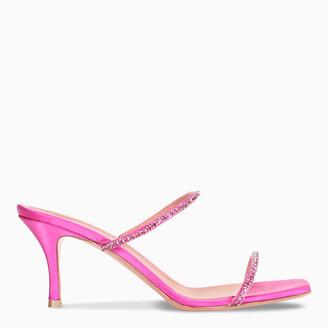 Amina Muaddi Fuchsia Gilda Slipper sandals