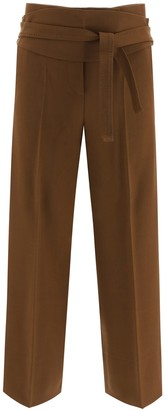 Max Mara albino trousers sash belt