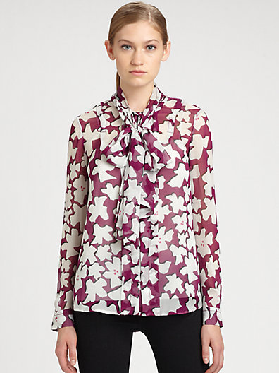 Diane von Furstenberg New Eddie Silk Top