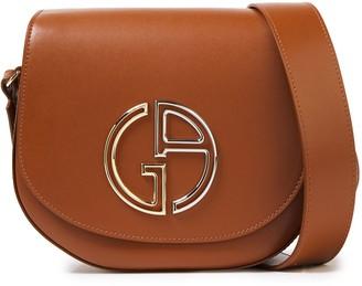 Giorgio Armani Logo-embellished Leather Shoulder Bag