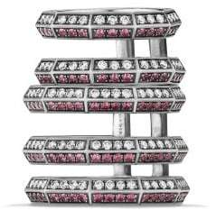 David Yurman Stax Cage Ring With Ruby And Diamonds