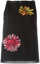 Moschino flower patch sleeveless top