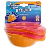 Tommee Tippee 4-Pack Explora Weaning Bowls - Girls